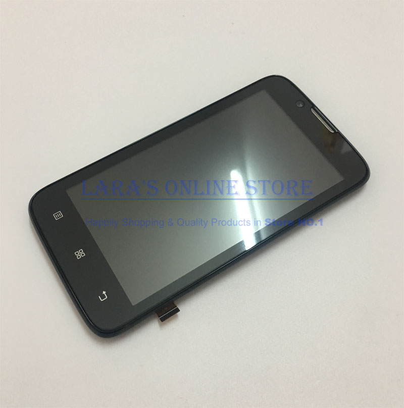 High Quality <font><b>4.5</b></font> <font><b>Inch</b></font> For Lenovo A328 A328t <font><b>LCD</b></font> Display <font><b>Touch</b></font> Screen Digitizer Assembly <font><b>With</b></font> Frame Replacement image