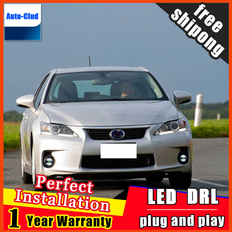 Car-styling LED Fog Light For <font><b>Lexus</b></font> LX570 <font><b>2009</b></font> - 2015 LED Fog Lamp With Lens And LED Day Time Running Ligh DRL 2 function image