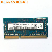 Ddr3 4g 1rx8 2rx8 pc3l 12800s, 1600 mhz 4gb memória do portátil 4g pc3l 12800s 1600 módulo sodimm do módulo do caderno mhz ram