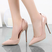 Brand Shoes Woman High Heels Wedding Shoes Nude Women Pumps Sexy Pointed Toe High Heels Summer Ladies Party Shoes Heels FS-0087