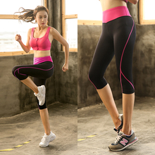 Plus Size  Women Sport Leggings Elastic Patchwork Shorts for Running Gym Fitness Dry Quick Workout Capris pantalones mujer  4xl