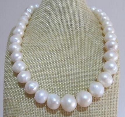 Free Shipping huge 11-13mm nature south sea white baroque pearl necklace 17.5inch single 38inch 11 12mm south sea baroque white pearl necklace shipping free