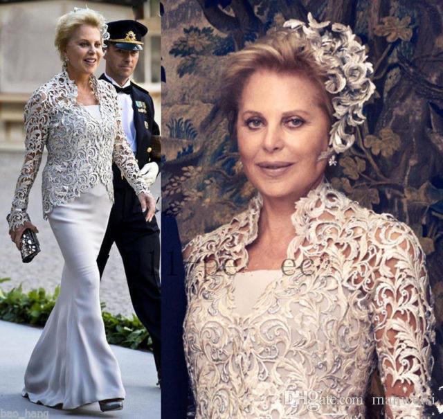 Vintage mère de la mariée robes avec dentelle veste 2019 pas cher mamans robes grande taille sirène femme robes de soirée boléro