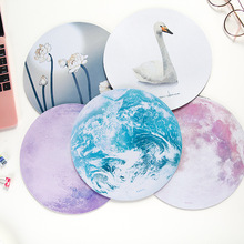 Planets Prints Mouse Pad Small Size Round Mouse Pad Non-Skid Rubber Pad computer Mouse Mat Keyboard for work pro Gamers