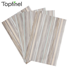 Top Finel 2016 Set of 4 PVC Decorative Vinyl Placemats for Dining Table Runner Linens Place Mat in Kitchen Cup Wine Coaster Pad