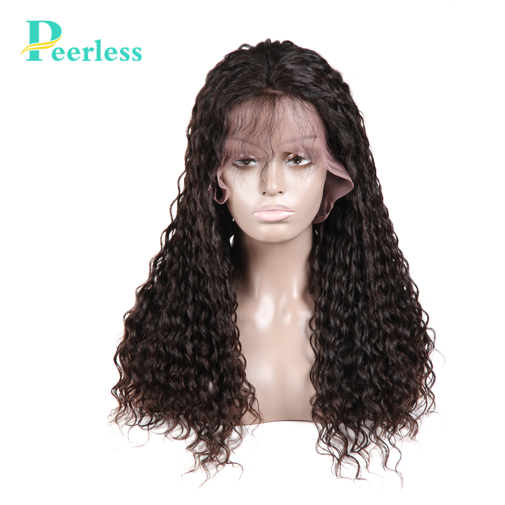 PEERLESS Lace Front Human Hair Wigs 180% Density Pre Plucked Hairline With Baby Hair Water Wave Virgin Hair Wigs
