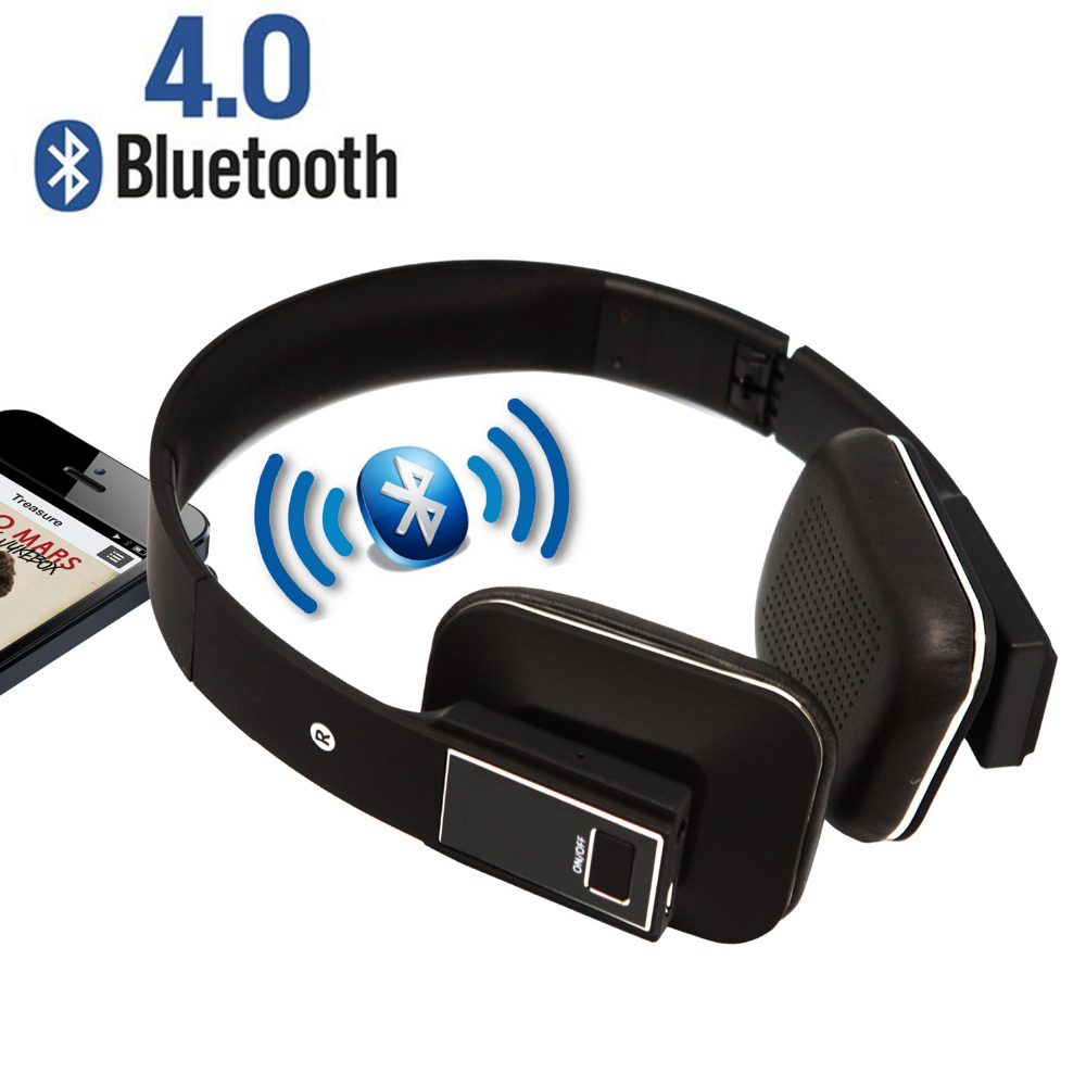 Wireless Bluetooth Earphones Foldable Over Ear Stereo Bluetooth Headphones Built-in Microphone for Iphone Samsung LG Smart Phone