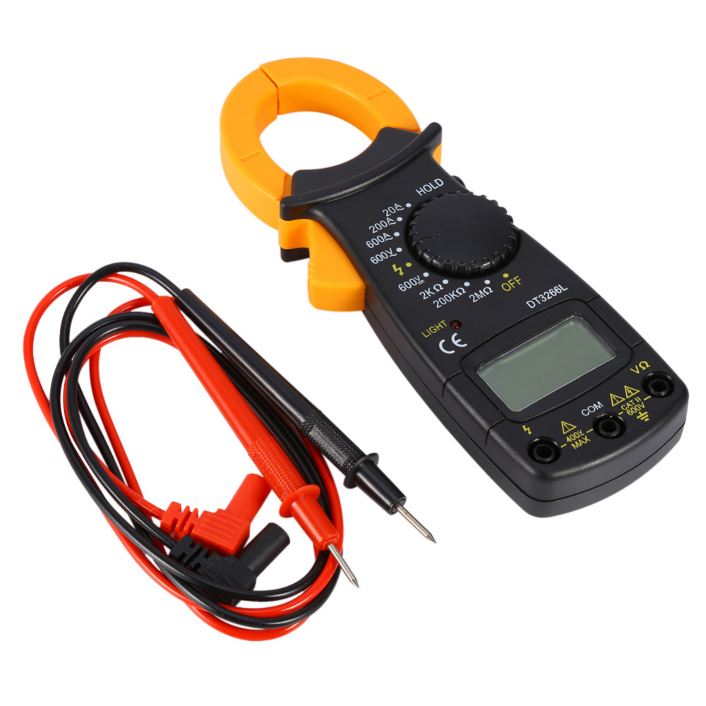 Ac Dc Current Clamp On Meter : Dt l digital amper clamp meter multimeter current
