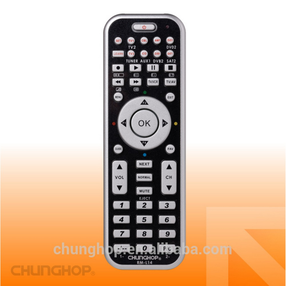 RM-L14 8in1 Universal Smart Remote Control With Learn Function For TV CBL DVD SAT DVB CONTROLLER chunghop copy 1pcs chunghop rm l987e tv sat dvd cbl cd ac vcr smart tv 3d universal remote control learning equipment with lcd display