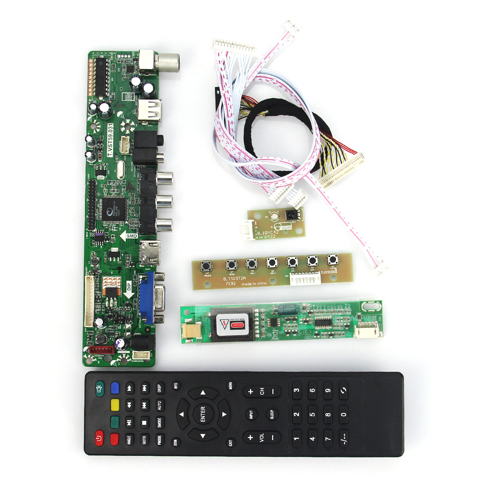 T.VST59.03 LCD/LED Controller Driver Board For B154EW02 CLAA154WA05 (TV+HDMI+VGA+CVBS+USB) LVDS Reuse Laptop 1280x800