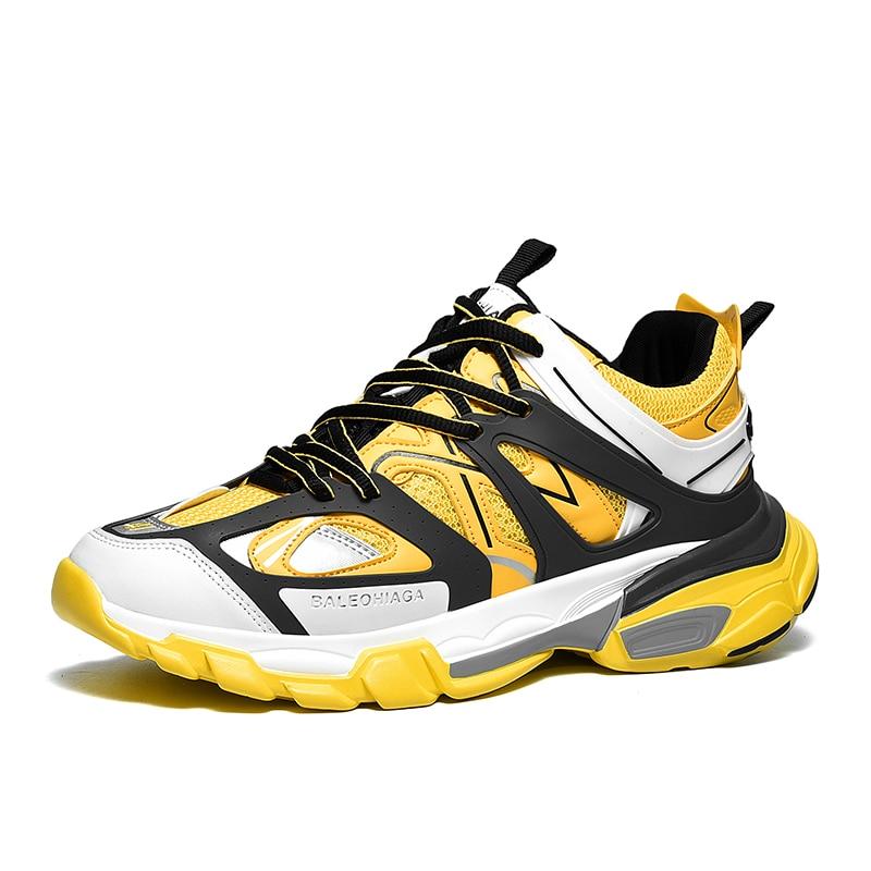 Hommes blue Offre Chaussures De yellow Plein Zapatillas Air Marche Sneakers Décontractées Black white En Respirant orange Mesh Ins Hombre Jaune Papa Spéciale Chunky TKJ3cl1F