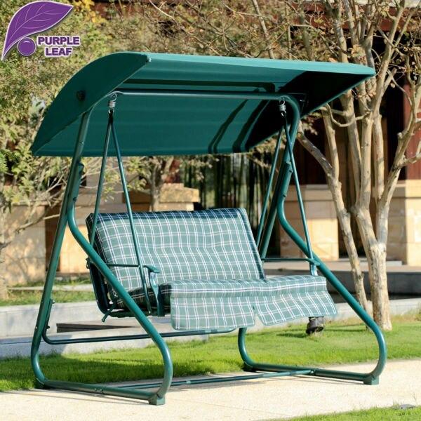 Purple Leaf Outdoor Furniture Canopy Swing Lattice Fringe Outdoor Hammock Patio Backyard Furniture