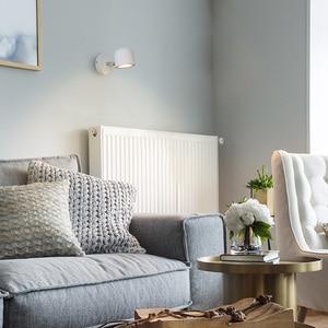 Image 3 - Aisilan duvar lambası Modern tarzı duvar lambası ayarlanabilir siyah/beyaz 7W başucu yatak odası ayna ışık koridor aplik AC90 220V