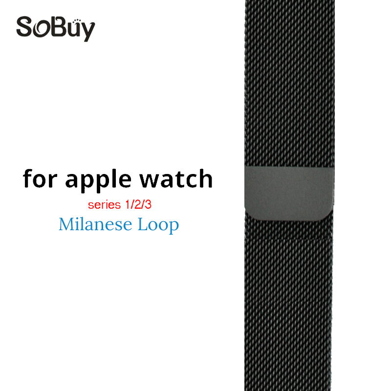 Lxsmart for apple watch 1/2/3 iwatch sport series Milan Nice loop wristband 38mm strap Link bracelet stainless steel 42mm band