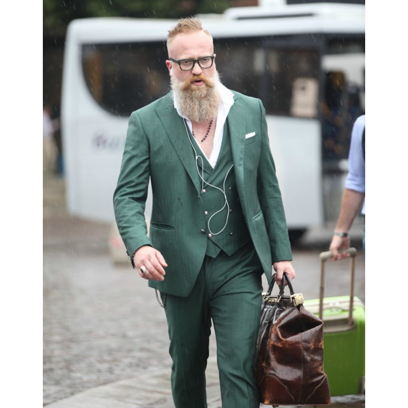Custom Made Green Double Breasted Men Suit Casual Slim Fit Men ...