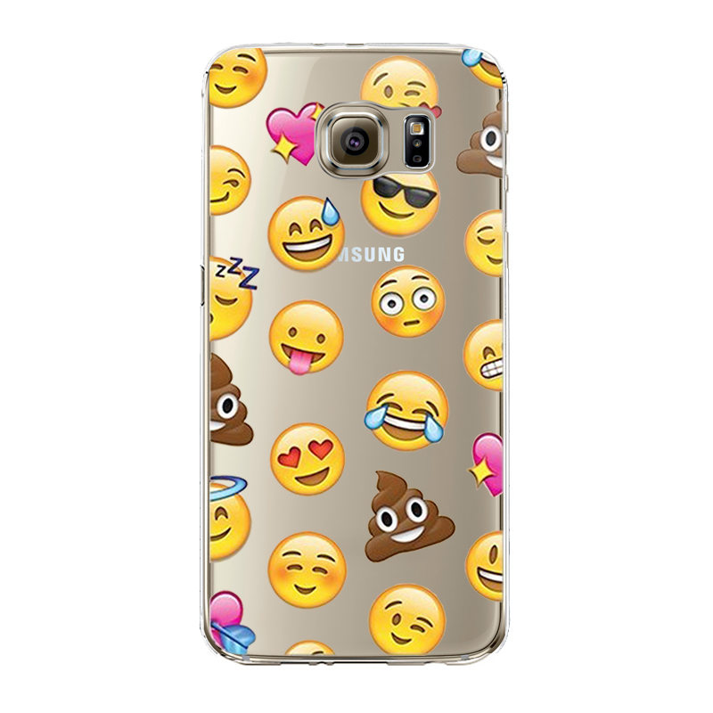 Fashion Lovely Funny Emoji Case For iphone 4 4S 5 5S SE 6 6S For Samsung Silicone Cell P ...