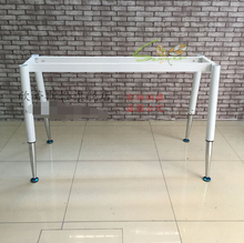 Training table stents. The desk legs pipe table feet. The desk foot rack, dismantling the table leg