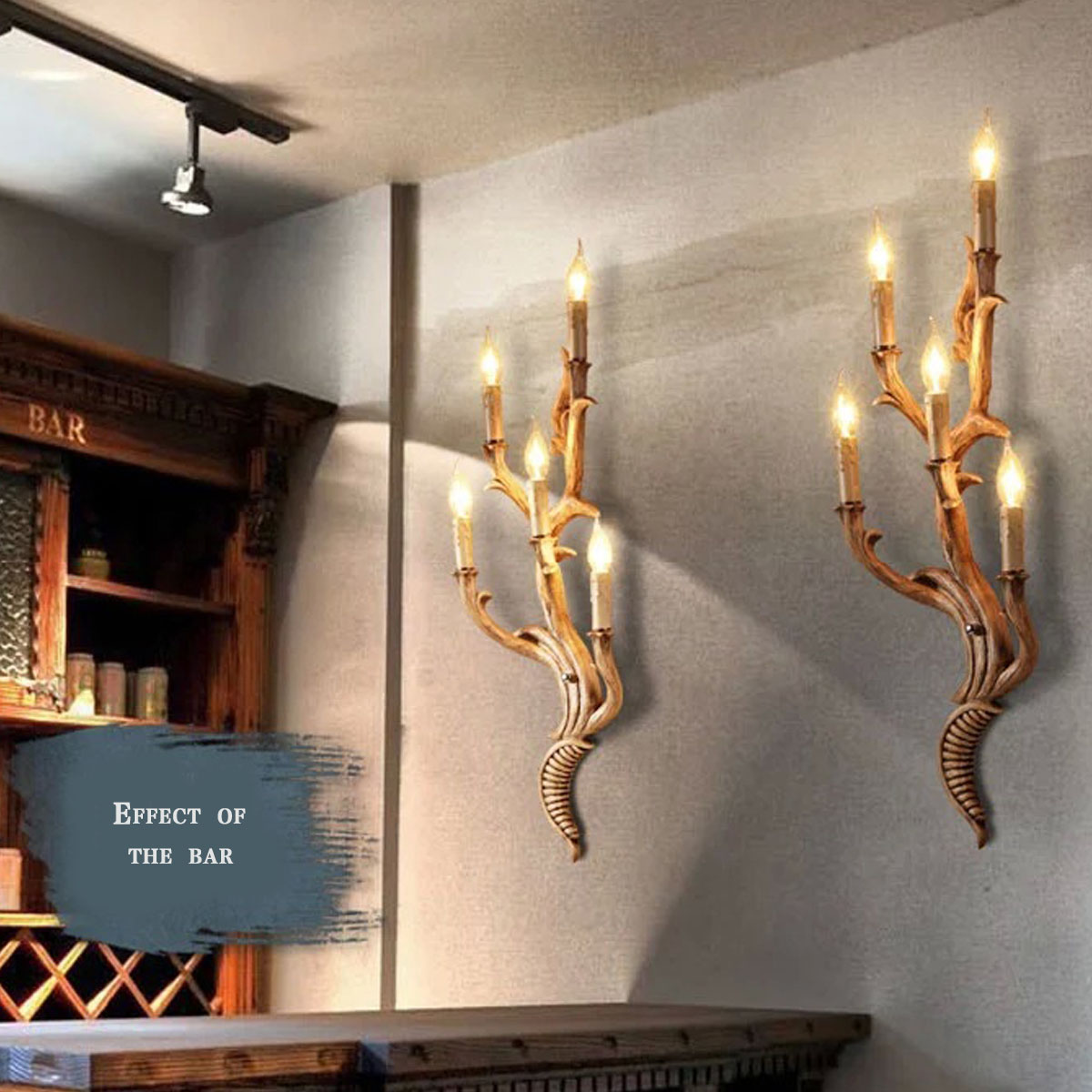 Top Grade Vintage Wall Light Tree Branch Shape Sconces American Garden Dining Room Lamps In From Lights Lighting On