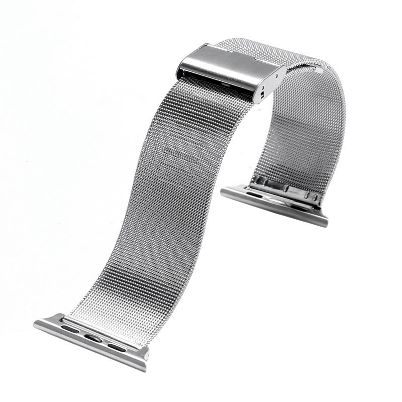 HOT Best selling Good Price Metal Stainless Steel Mesh Watch Strap Band for Apple Watch Bands for iWatch 38mm 42mm Black/Silver 38 42mm leather strap cuff bracelet watch bands for apple watch for iwatch 5 colors new hot selling