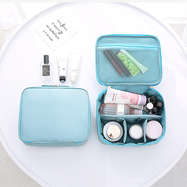 New Handle Zipper Makeup Bag Women Travel Bags Big Capacity Cosmetic Beauty  Case Make Up Organizer 8d572a83f8