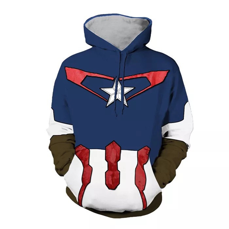Captain America Civil War 3 Sweatshirt Justice League Cosplay Hooded Jacket Halloween Cosplay Clothing Uniform Hoodie