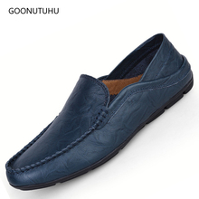 Fashion men's shoes casual genuine leather loafers driving platform shoe man youth breathable slip-on shoes for men big size 12