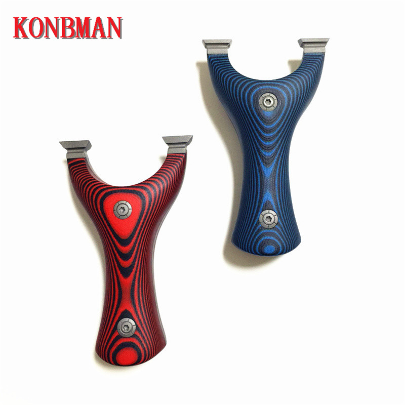 Strong titanium alloy G10 shooting bracket catapult with rubber band shooting ball hunting exercise practice outdoor
