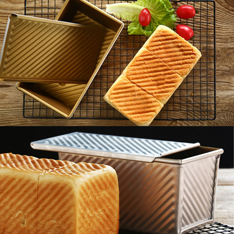 900g Gold Wavy Corrugated Aluminium Alloy Non Stick Teflon Coating Bread Loaf Pan Tin Toast Mould Baking Mold On Aliexpress