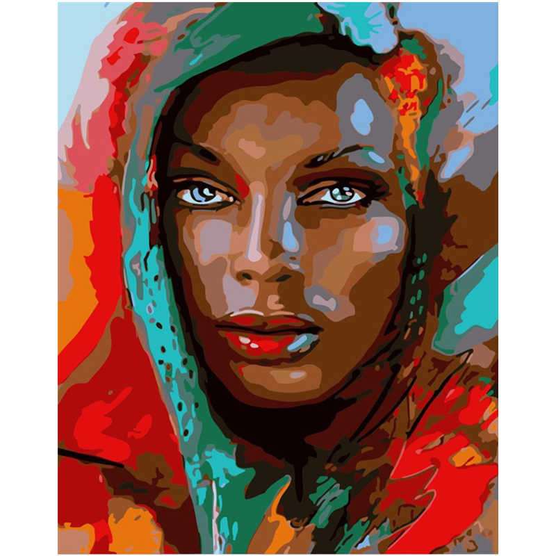 Headscarf Beauty Hand Made Paint High Quality Canvas Beautiful Painting By Numbers Surprise Gift Great Accomplishment