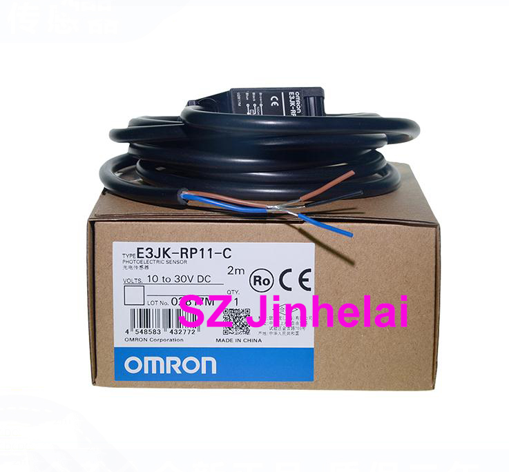 Authentic original OMRON E3JK-RP11-C PHOTOELECTRIC SWITCH SENSOR 2M 10-30VDC e3jk r4m1 omron photoelectric sensor