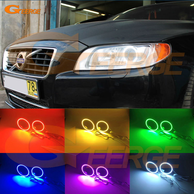 For Volvo XC70 2008 2009 2010 2011 2012 2013 2014 2015 2016 Excellent Angel Eyes Multi-Color Ultra bright RGB LED Angel Eyes kit for lifan 620 solano 2008 2009 2010 2012 2013 2014 excellent angel eyes multi color ultra bright rgb led angel eyes kit