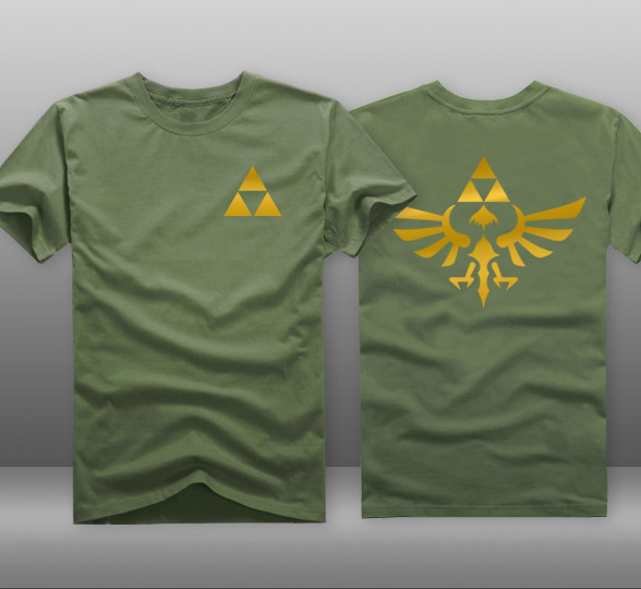 743b1eb66 Game The Legend of Zelda Link Triforce Logo T-shirts Mens Casual Cotton  Short Sleeve O-Neck Tops Tee Shirts