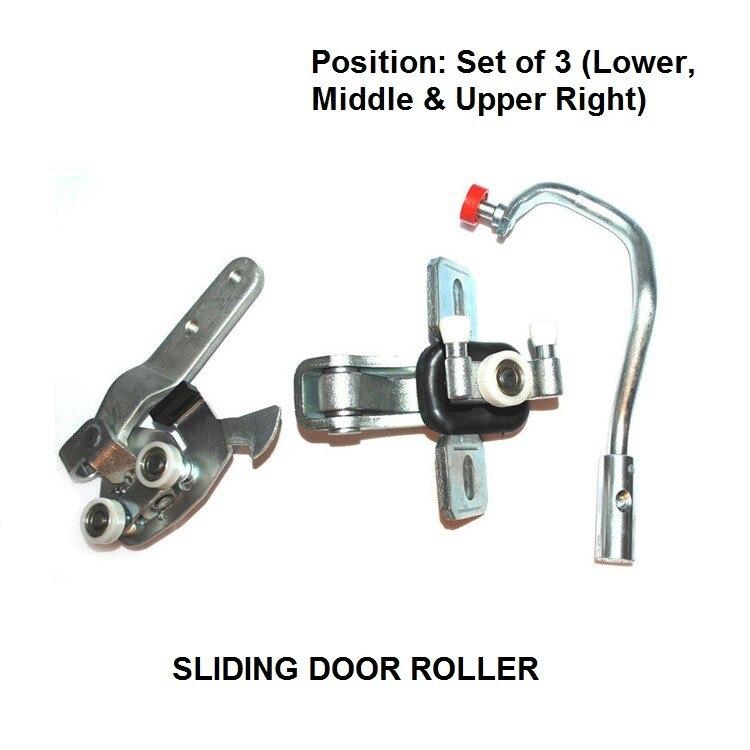 FOR PEUGEOT BOXER 2002-2006 RIGHT SIDE SLIDING DOOR ROLLER COMPLETE SET NEW керосиновый обогреватель aeroheat has2600 boxer