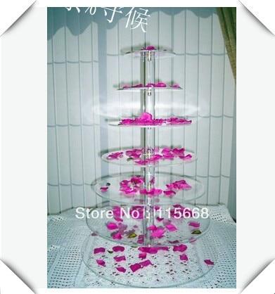 wedding decoration/ 7 Tier Round Acrylic Cupcake Stands Party / Wedding / Festival Supplies Cake Display Shelfwedding decoration/ 7 Tier Round Acrylic Cupcake Stands Party / Wedding / Festival Supplies Cake Display Shelf