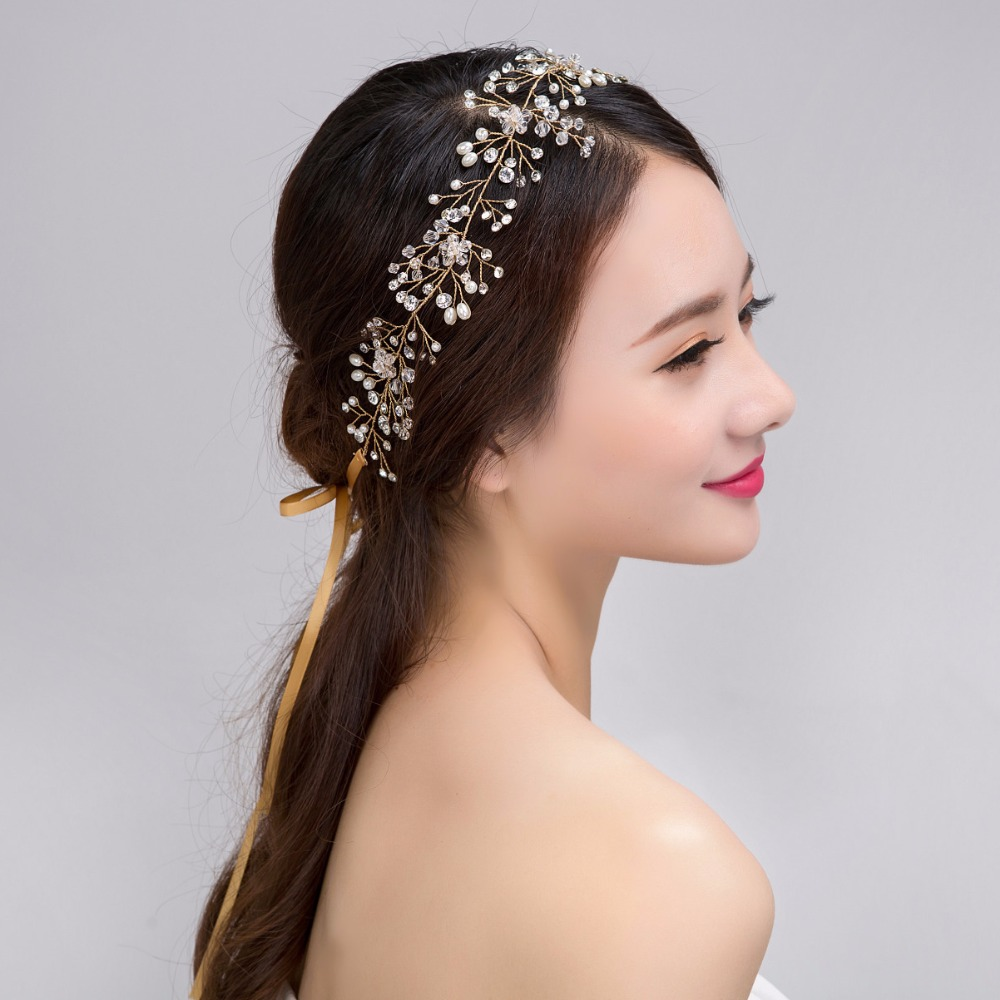 8 Styles Romantic Crystal Flower Bridal Hairband Lace HairClip Women Wedding Hair Jewelry Engagement headband Bride Accessories