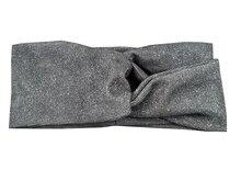 T175263 Новые весна set good stretch серебряный shimmer тюрбан ободки мода твердые серый головные уборы девушки головная повязка для женщин