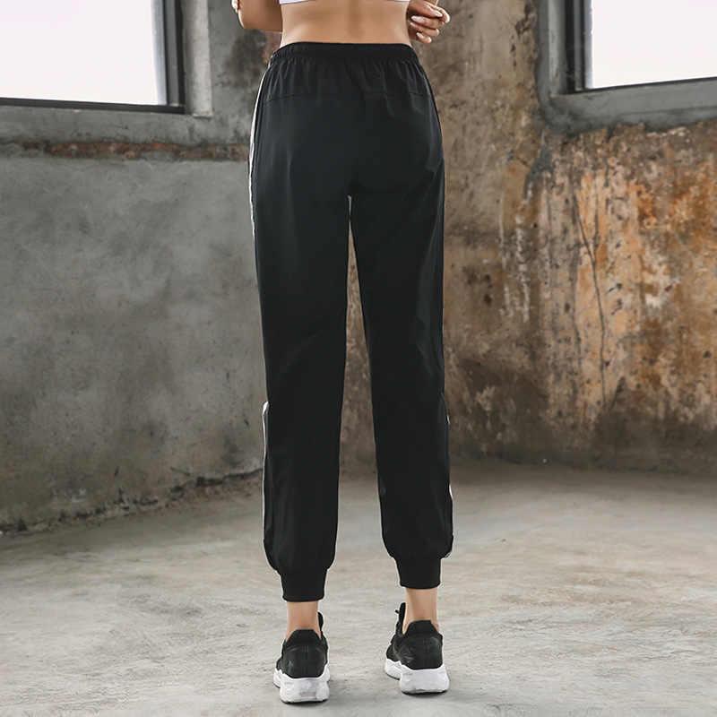 AALAMGEER 3 צבעים נשים של מכנסי טרנינג רצים היפ הופ ריקוד אימון Homme חדר כושר ריצה ספורט מכנסיים Pantalon ספורט Femme XL