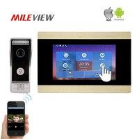 Hardwired Touch Key 7 Lcd Video Door Phone Intercom System Wth IR Camera Code Keypad