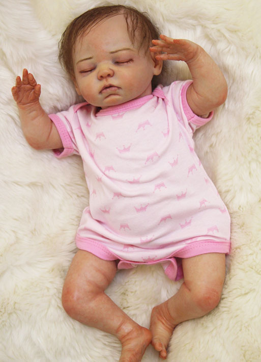 Real Touch Silicone Reborn Girl Baby Dolls Toy Lifelike Soft Body Newborn Sleeping Babies Lovely Birthday
