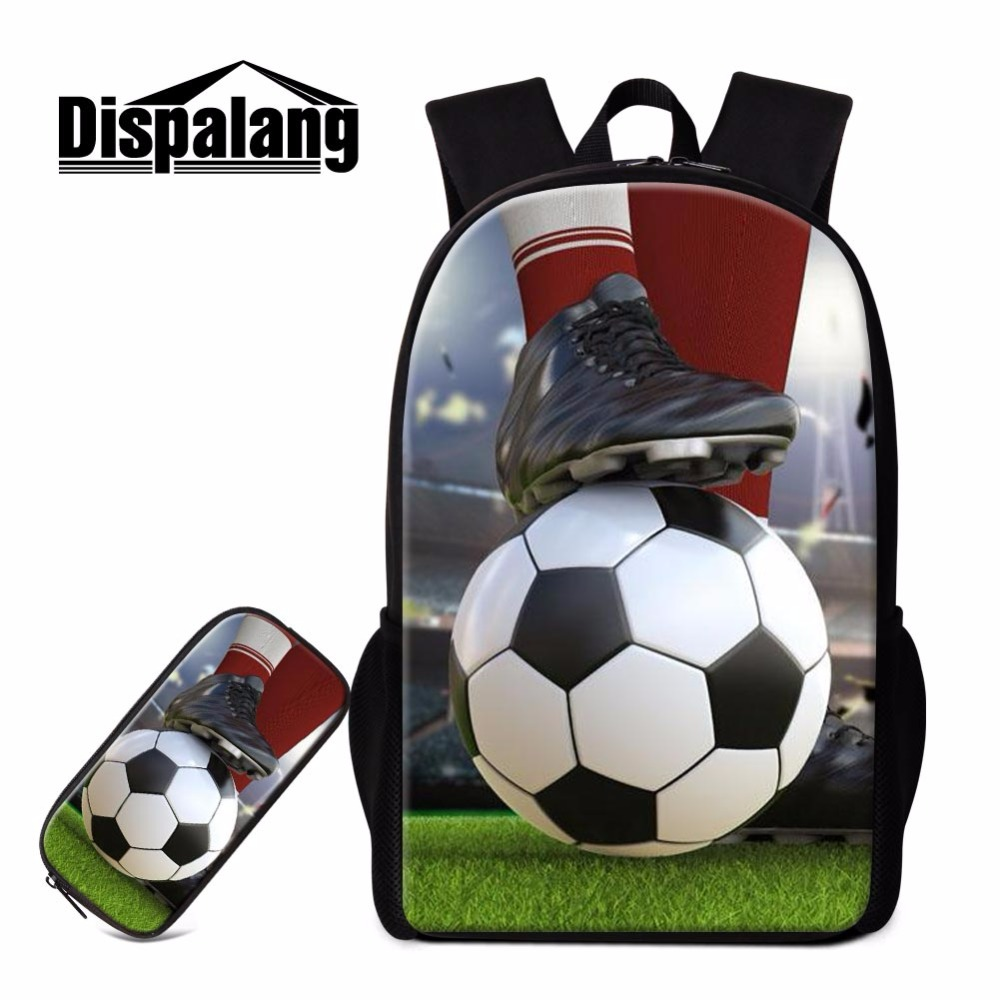 Dispalang School Backpack for Boys Cool Lightweight Shouder Bookbag Sporty Rucksack for Teenagers Ball Patterns Primary Students