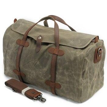 2019 Luxury Canvas Suitcases and Travel Bag Men Vintage Duffel Bags Big Carry on Luggage Weekend Large Waterproof Shoulder Totes