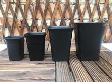 Free shipping,high quality,Square Vientiane pots.black frosted plastic flower pot.multi-meat pots.green planting.potted orchids