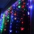 Colorido RGB 3.5 m 100 Led 16 p Mariposa Luminarias Lámparas Luces de Cortina Decoración Del Banquete de Boda de Vacaciones de Navidad Al Aire Libre