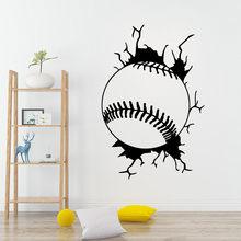 Creative baseball Wall Art Decal Wall Art Sticker Murals Removable Wall Sticker Home Decoration Accessories creative home decoration girl s eyes design removable wall art sticker