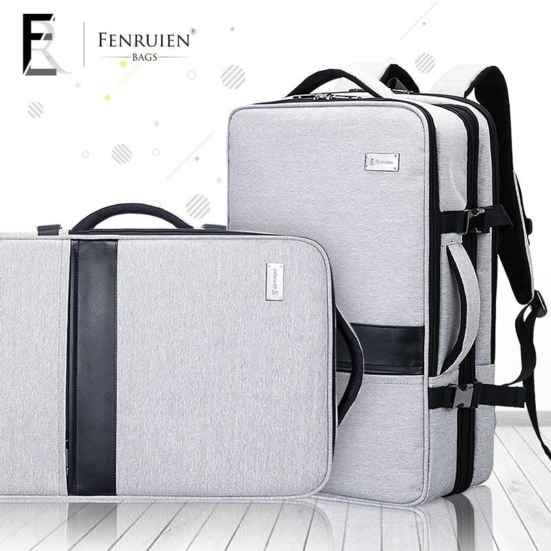 FRN Business Backpack Male 17 Inch Laptop Backpack Bag Large Mochila Tripple Use Unisex Waterproof Antitheft Travelling Backpack