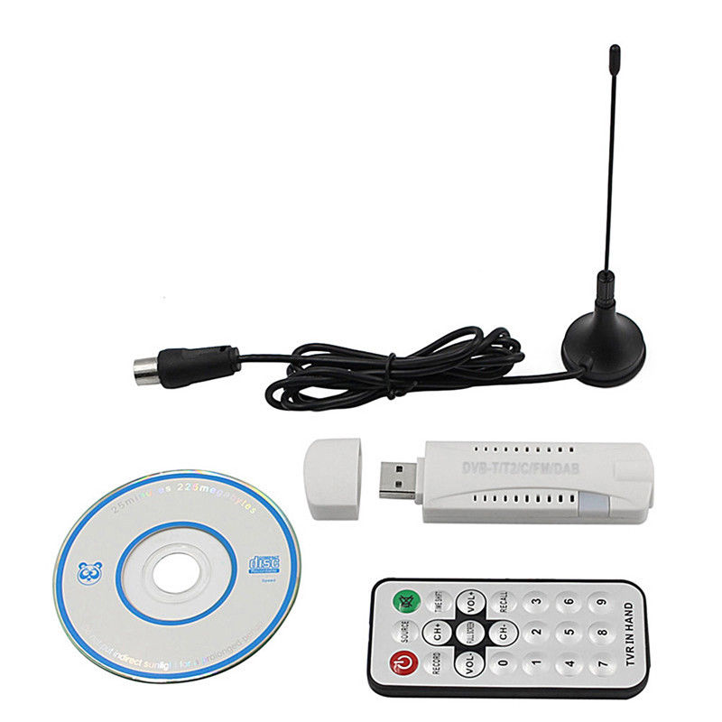Neue Digitale DVB-T2 DVB-T DVB-C 2,0 USB TV Stick HDTV Receiver mit Antenne Fernbedienung FM DAB SDR HD USB Dongle für Windows PC Laptop