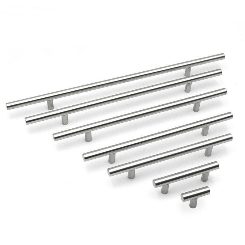 Stainless Steel Kitchen Door Cabinet T Bar Handle Pull Knob Cabinet Knobs Furniture Handle Cupboard Drawer Handle 50mm-500mm