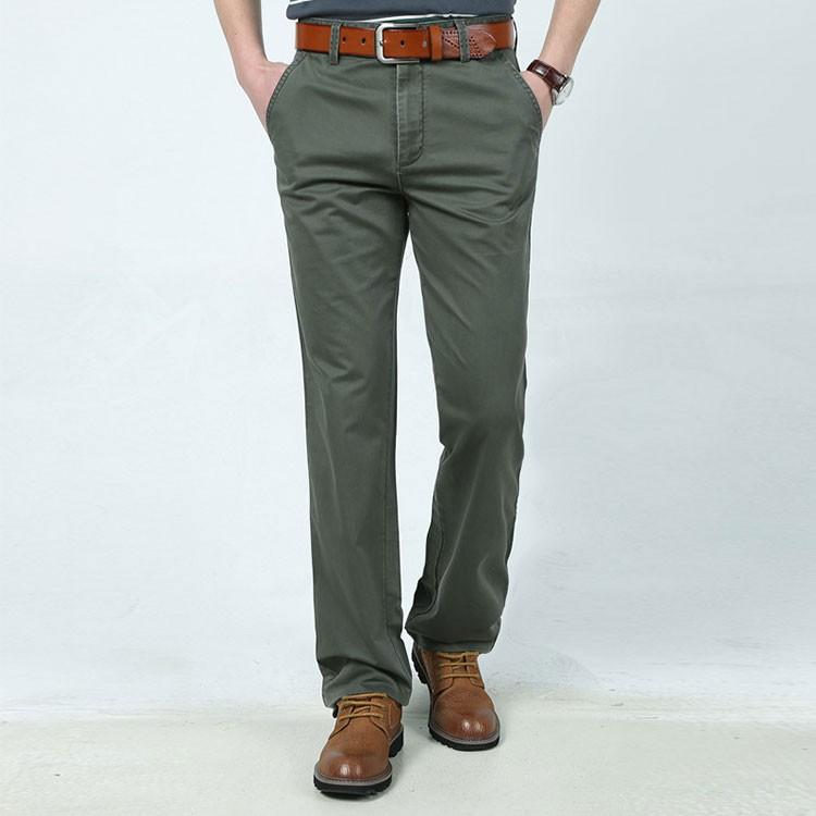 4 Colors 30-42 100% Cotton Fashion Joggers Men Casual Long Pants Men\'s Clothing Black Khaki Pants Trousers Autumn Summer Brand (4)