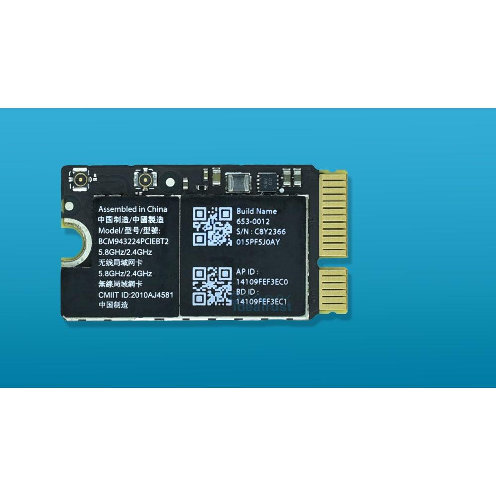 BCM943224PCIEBT2 300 Мбит/с 2,4 и 5 г Wi-Fi bluetooth сетевой карты для Mac OS Macbook Air A1370 A1369 A1465