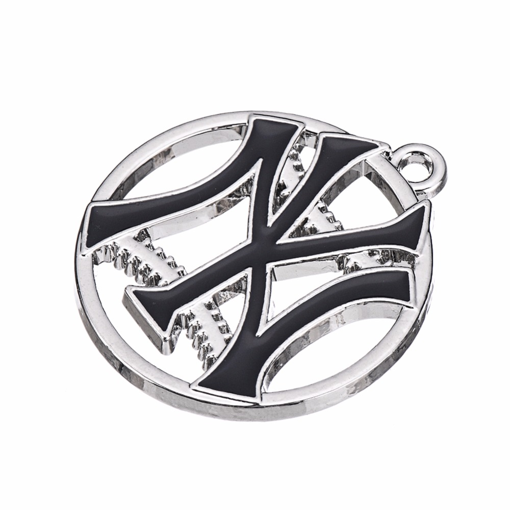 Newest NY Yankee Pendant Charms Enamel Baseball Team Logo Charm For DIY Necklace Bracelet